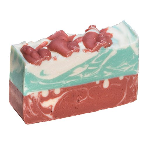 Red Rose Goat Milk Soap Bar (4 Oz) - Handmade Organic Herbal Bar with Therapeutic Essential Oils. Natural Moisturizing Body Soap for Skin and Face. With Goat Milk, Shea Butter and Natural Glycerin