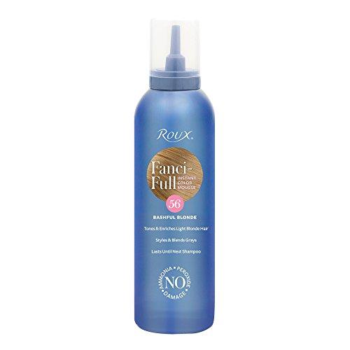 Hair Color Mousse - Roux Fanci-Full Mousse, 56 Bashful Blonde, 6 Fluid Ounce
