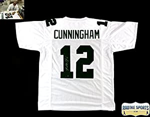 Randall Cunningham Autographed/Signed Philadelphia Eagles White Custom Jersey