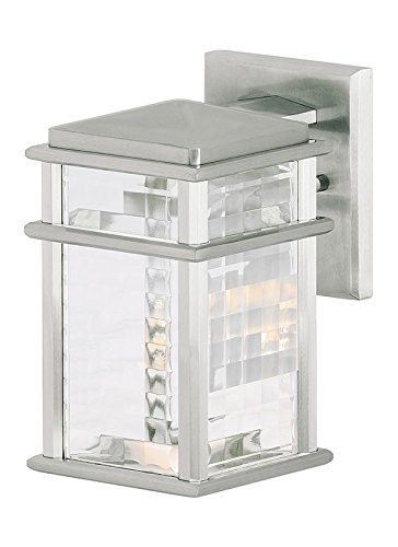 Feiss OL3400BRAL Mission Lodge 1- Light Wall Lantern in Brushed Aluminum (Room Lodge Furniture Living Mission)