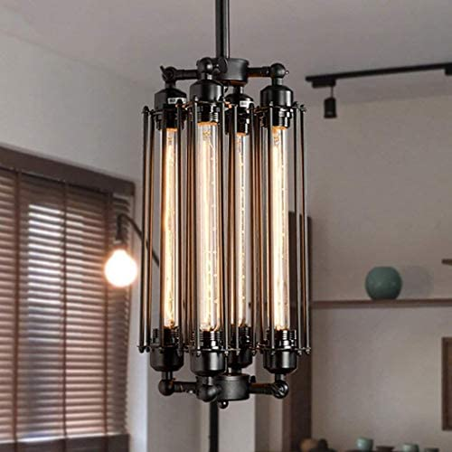 Pendant Lights Chandelier Furniture Retro loft Retro Industrial Style Bar Restaurant Flute Metal Punk Four