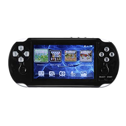 PSFS Handheld Game Console,Pap GAMETA 2 Plus 4.3'' Handheld Game Console 64 Bit Video Game Concole Port,Kids Gift for Ages 3+ Factory Outlet (Black) by PSFS (Image #1)