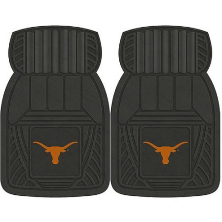 NCAA 4-Piece Front #36572606 and Rear #19888872 Heavy-Duty Vinyl Car Mat Set, University of Texas by Sports Licensing Solutions LLC