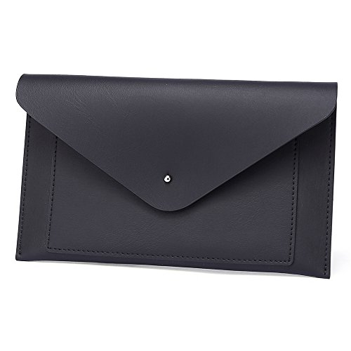 Black Wallet Phone Envelope Womens Organizer Holder Clutch Leather Card Coin R7xwTzqw