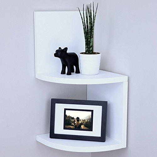 (Ballucci Small 2 Tier (4 pcs) Wall Mount Corner Shelf, 7.75