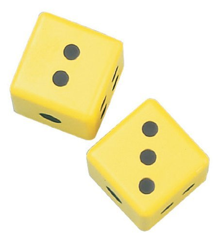 Champion Sports 3 Inch Coated Foam Dice