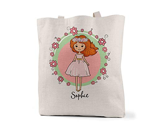 Personalized Girls Tote Bag, 14.5