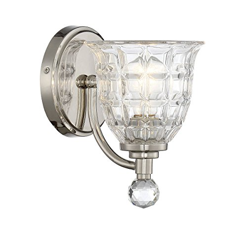 Sconce Bellacor Crystal (Savoy House 9-880-1-109 Birone Wall Sconce in Polished Nickel)