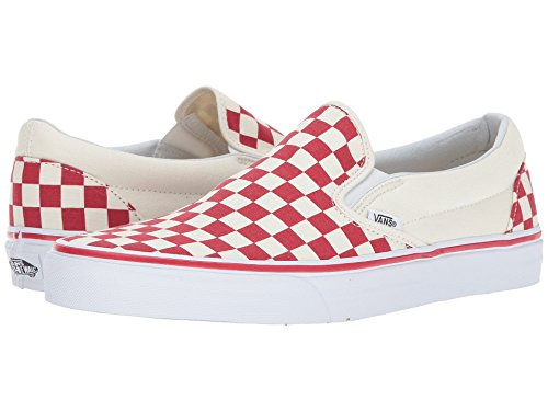 Vans Slip-On(TM) Core Classics (7 B(M) US Women/5.5 D(M) US Men, (Checker) Racing Red/White) (Red Checker)