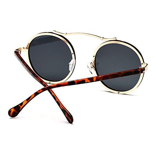 avec Sport coréenne Couleur C Star Tide Le Marque lunettes Round même de Nouvelles de de F Retro soleil Femme Paragraphe Des Soleil Lunettes qaOIBwRxnx