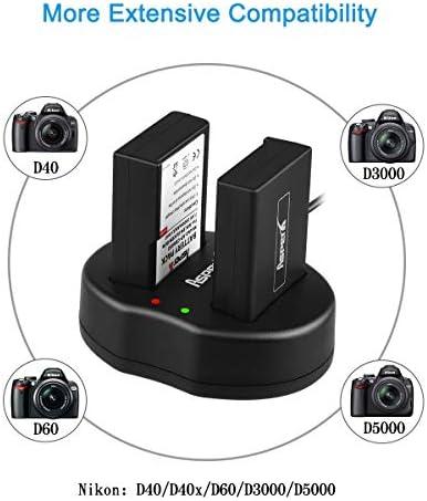 estación de carga para Nikon d40x DSLR Cámara de batería cargador