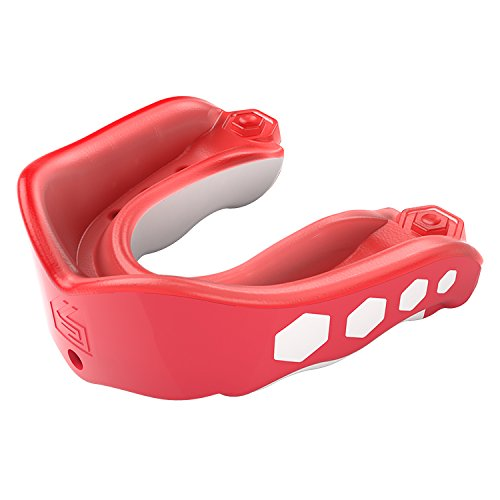 Blossom Punch - Shock Doctor Gel Max Flavor Fusion Convertible Mouth Guard, Fruit Punch, Youth