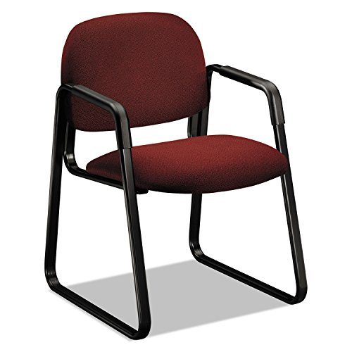 HON COMPANY - Solutions 4000 Series Seating Sled Base Guest Chair, Burgundy ( HON4008AB62T ) ( 4008AB62T ) - Hon 4000 Series Solutions
