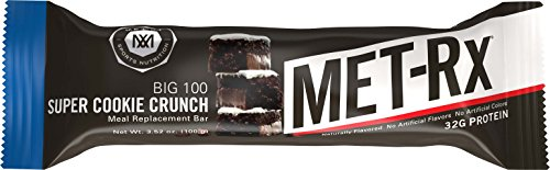 MET-Rx Big 100 Colossal Protein Bars, Great as Healthy Meal Replacement, Snack, and Help Support Energy, Gluten Free, Super Cookie Crunch, 100 g, 9 Count