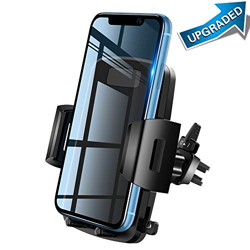Car Phone Mount, VUP Car Air Vent Phone Holder Car Mount with Adjustable Strong Clip, One-Touch Design Compatible for iPhone Xs/Xs Max/XR/X / 8/8 Plus / 7/7 Plus Samsung Galaxy S9 / S9 Plus and More (Vent Tilt Mount)