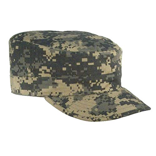 BlackC Sport ACU Digital Camouflage Rip-Stop Map Pocket Patrol Ranger Fatigue Cap ()