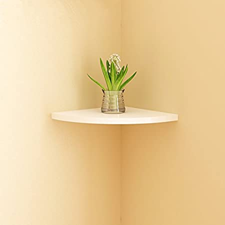 SAEJJ-Creative triangle corner shelf wall fan-shaped clapboard ...