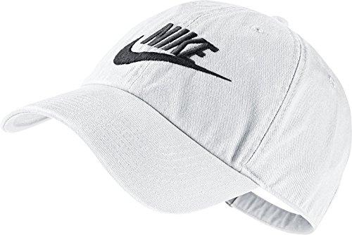NIKE Mens Futura Washed H86 Adjustable Hat White/Black 626305-101