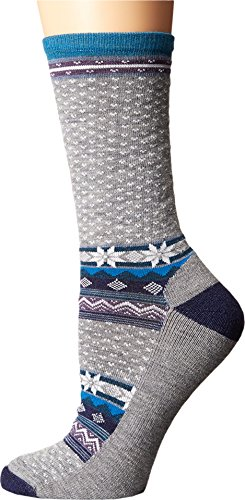 Smartwool Women's Cozy Cabin Crew Light Gray Heather Socks LG (Women's Shoe 10-12.5)