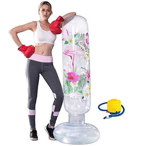 63inch Inflatable Punching Bag, Free Standing Boxing Bag for Adults and Kids, Boxing Toy Youth Boxing Bag