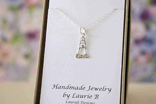 Small Lighthouse Silver Charm Necklace
