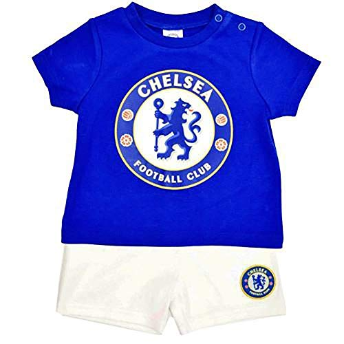 Chelsea FC Baby Shorts and Tee Sleep Set (3-6 Months) (Blue)