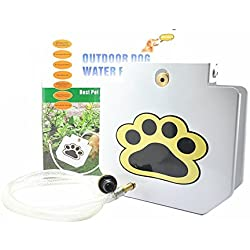 """[UPGRADED VERSION] MATOP Dog Pet Water Fountain Step-On Outdoor Training Tool with 40"""" Hose"""