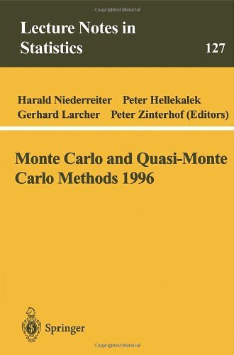 Download Monte Carlo and Quasi-Monte Carlo Methods 1996: Proceedings of a Conference at the University of Salzburg, Austria, July 9-12, 1996 (Lecture Notes in Statistics) Pdf