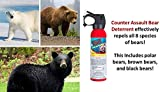 Counter Assault - EPA Certified, Maximum Strength & Distance Bear Repellent Spray - Effective Against Every Type of Bear - Hottest Formula Allowed by Law - Glow in the Dark Safety Wedge