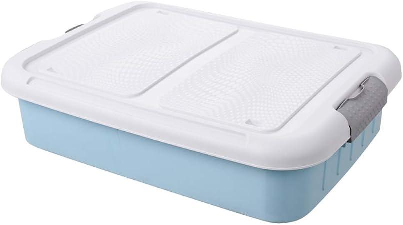 WYCD Caja De Almacenamiento Multiusos Bajo Cama con Tapa Y Ruedas Casilla Box De Plástico para Ropa Juguetes Y Otros Accesorios,Blue: Amazon.es: Hogar