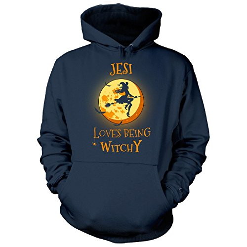 Jesi Loves Being Witchy. Halloween Gift - Hoodie Navy L (Halloween Jesi)