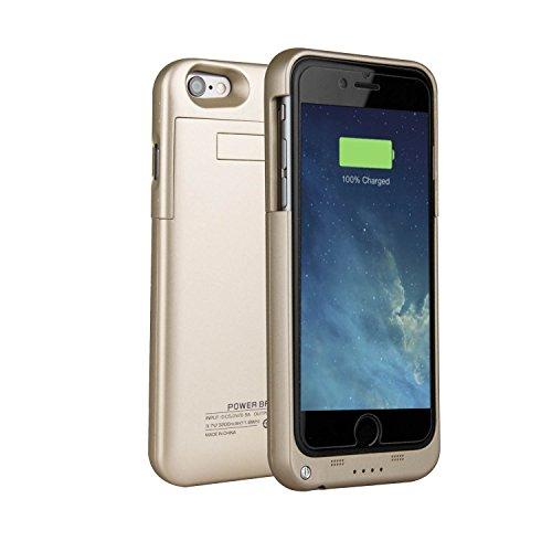 Funda Batería iphone 6 / 6s , SAVFY® Case carcasa Con Batería Cargador-batería Externa Recargable 3200mAh Para iPhone 6 / 6s 4.7 (Oro)