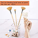 Oil Acrylic Paint Brushes Artist Fan Paint Brush