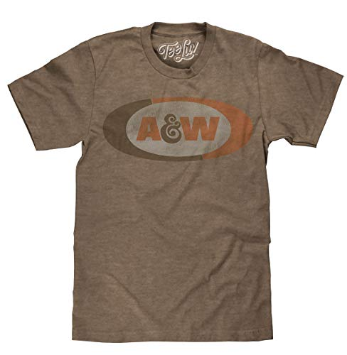 Faded Logo Tee - A&W Faded Logo | Soft Touch Tee-medium  Brown Heather