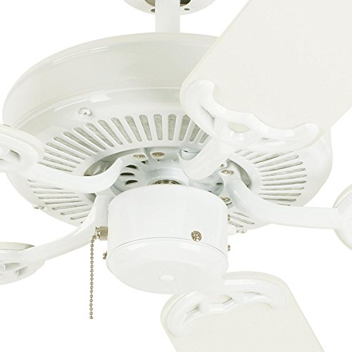 Westinghouse 7802400 Contractor's Choice 52-Inch Five-Blade Indoor Ceiling Fan, White with White Blades by Westinghouse (Image #4)