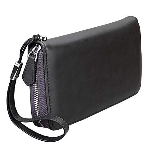 Niceamz 5 Multi Pour Sac cartes En Carte 3 Grande Zipper Capacité New color Phone Crédit De Les Cuir Nouveaux Hommes Bag Pochette AArRw
