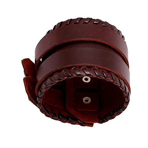 Fariishta Jewelry Vintage Punk Leather Cuff - Coventry Locate