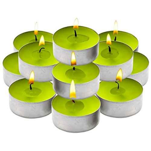 - Light In The Dark Citronella Green Basil Soft Scented Tealight Candles Set of 30