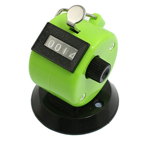Price comparison product image SODIAL(R) Golf Pitch Count 4 Digit Number Clicker Portable Tally Counter Apple Green