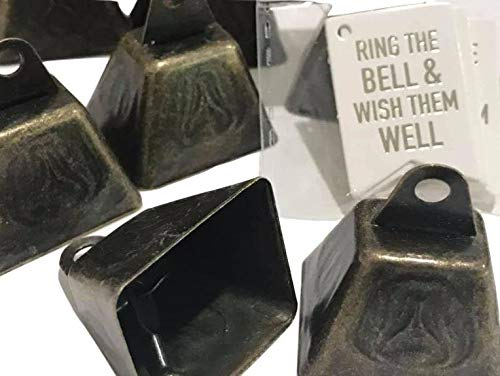 48 Ring The Bells Wish Them Well Wedding Mini Cow Bells Reception Party Favors