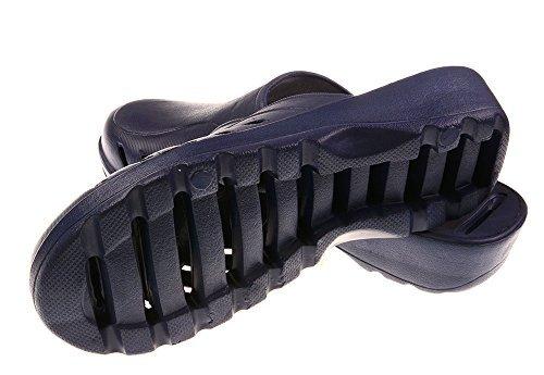 Bronze Fois (tm) Unisexe Léger Poids Antidérapant Salle De Bain Douche Pantoufles Sandales Bleu
