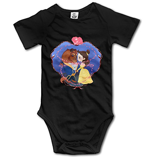 [Beauty And The Beast Heart - POY-SAIN Funny Infant Toddler Short Sleeve Jumpsuit Romper Size6 M] (Maleficent Toddler Costumes)
