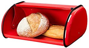Greenco High Quality Stainless Steel Bread Bin Storage Box, Bread Container, Bread Box, Roll up Lid