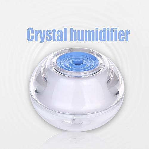 MRXUE Led Humidifier Crystal Luminous USB Ultra Quiet Air Purifier 120Ml 9.59.56.5Cm,Blue