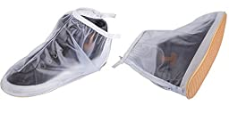 1 Pair of Men Anti-slip Reusable Rain Shoe Covers Waterproof Shoes Overshoes Boot Gear (XL)