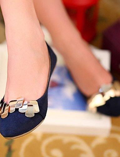 Uk5 Pdx Flats azul Zapatos us7 Plano Talón Eu38 Mujer Punta Red rojo Piel Negro 5 Casual De Redonda 5 Cn38 de Sintética xpAxrvHw