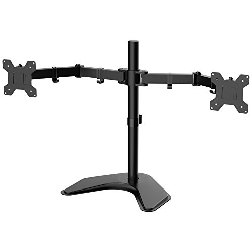 """1home Double Twin Arm Desk Mount Stand LCD LED Monitor Computer 13""""-27""""..."""
