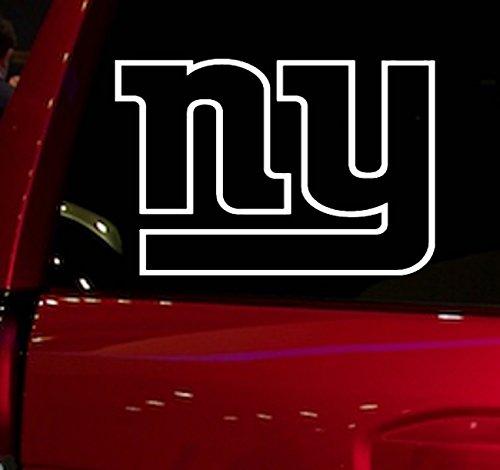 AUTO - STICKER - NFL - FOOTBALL - NEW YORK GIANTS - DECAL - FOR - CAR - TRUCK - WINDOW - SUV - COOLER - MOTORCYCLE - HELMET - HARDHAT - NOTEBOOK - FOLDER - MACBOOK - COMPUTER (NY GIANTS)