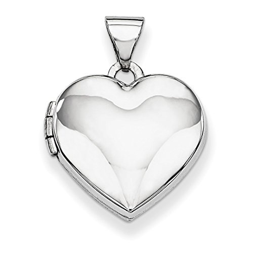 ICE CARATS 14k White Gold Heart Shaped Photo Pendant Charm Locket Chain Necklace That Holds Pictures Fine Jewelry Ideal Mothers Day Gifts For Mom Women Gift Set From Heart by ICE CARATS