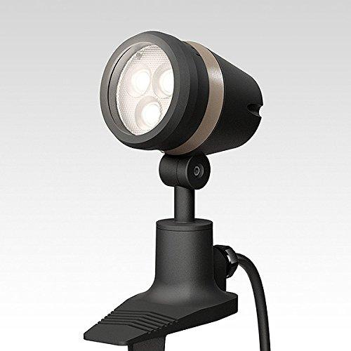 ガーデンライト 庭園灯 LED ガーデンアップライト De-SPOT 調光リング ローボルト 広角 電球色 (ブラック) スポットライト 照明 屋外 看板 B0765YJN1H ブラック